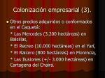 colonizaci n empresarial 3