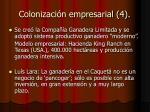 colonizaci n empresarial 4