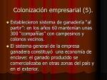 colonizaci n empresarial 5