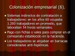 colonizaci n empresarial 6