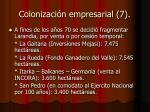 colonizaci n empresarial 7