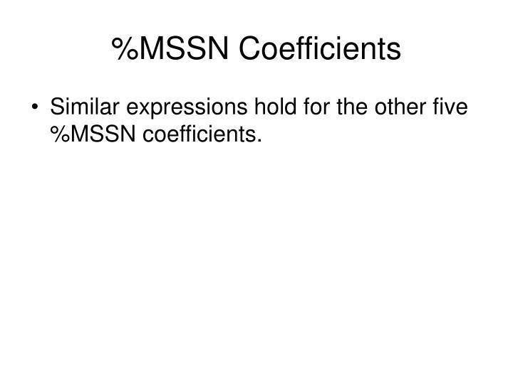 %MSSN Coefficients
