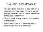 no call rules paper 4