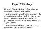 paper 2 findings