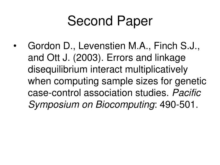 Second Paper