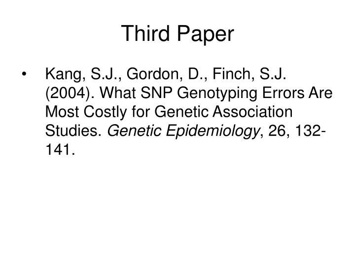 Third Paper