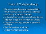 traits of codependency