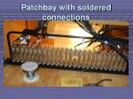 patchbay with soldered connections