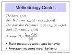 methodology contd