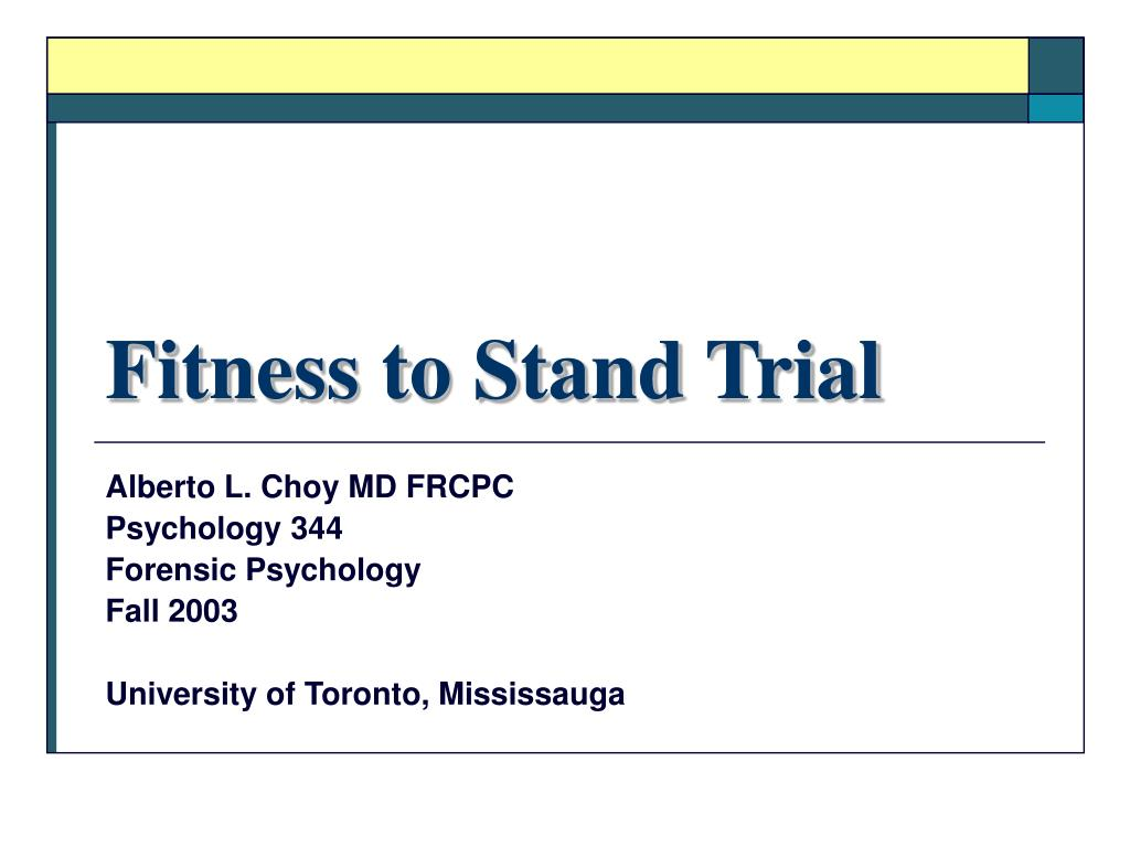fitness to stand trial l.