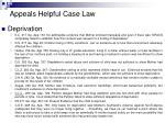 appeals helpful case law