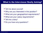 what is the interviewer really asking