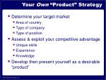 your own product strategy