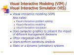 visual interactive modeling vim visual interactive simulation vis