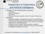 department of cybernetics and artificial intelligence20