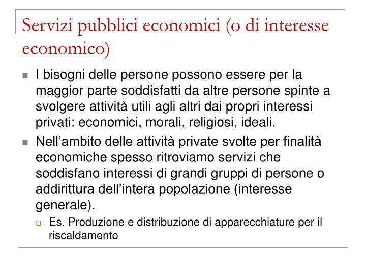 Servizi pubblici economici o di interesse economico2