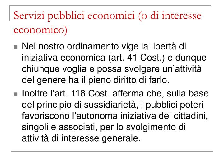 Servizi pubblici economici o di interesse economico3