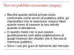 servizi pubblici economici segue