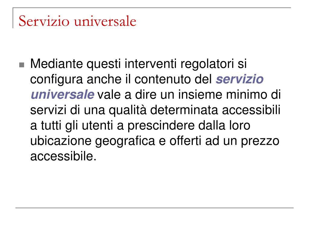 Servizio universale