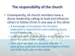 the responsibility of the church