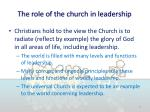 the role of the church in leadership