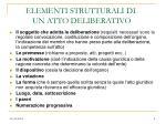 elementi strutturali di un atto deliberativo
