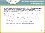 next steps in improving performance management in tulare