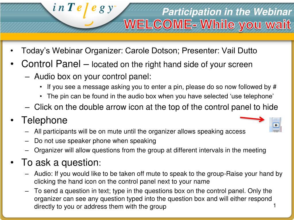 participation in the webinar l.