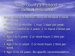 troup county s protocol default provisions