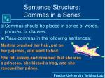 sentence structure commas in a series22