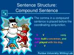 sentence structure compound sentence6