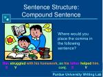 sentence structure compound sentence7