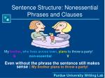 sentence structure nonessential phrases and clauses17
