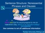 sentence structure nonessential phrases and clauses18