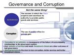 governance and corruption not the same thing