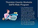 thurston county worksite safe ride program