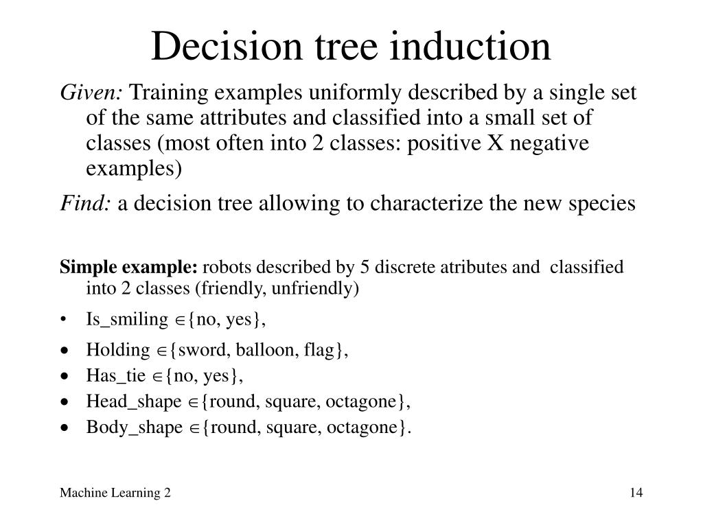 Decision tree induction