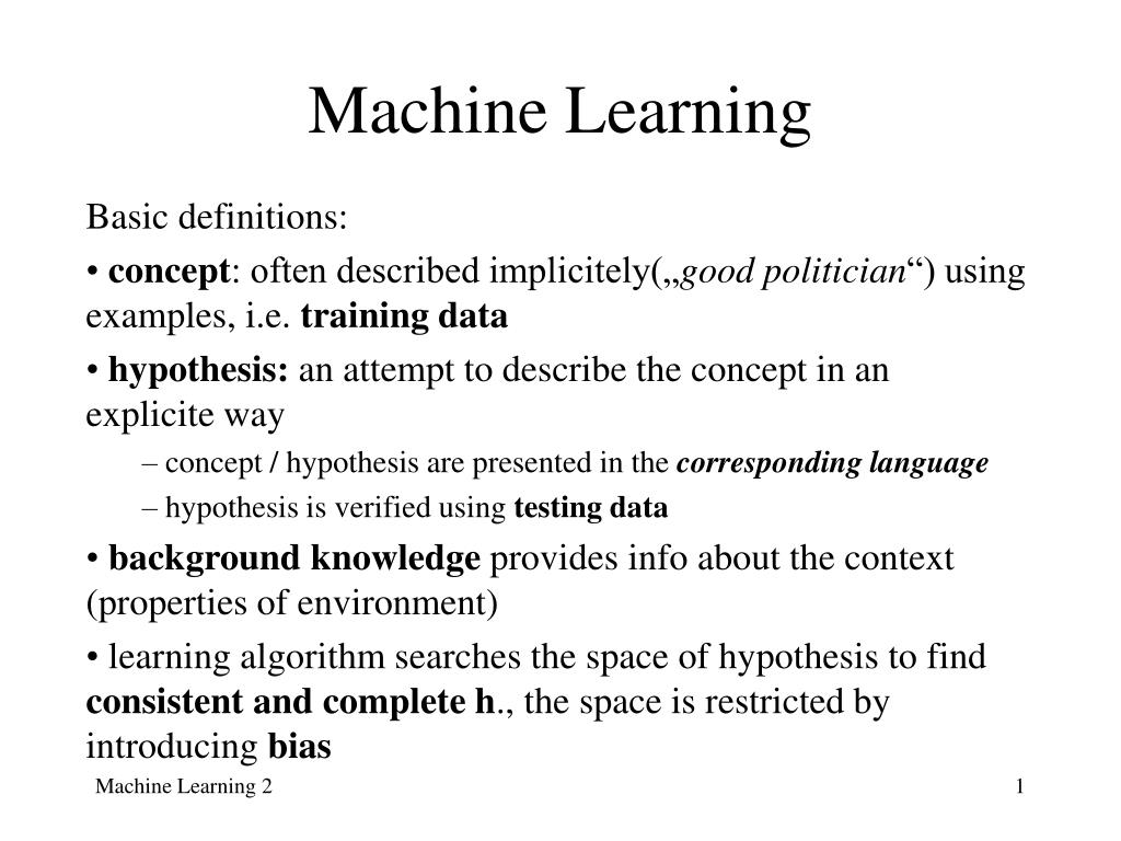 machine learning l.