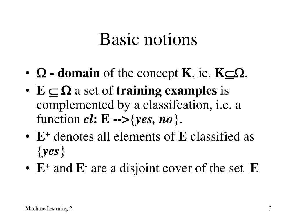 Basic notions