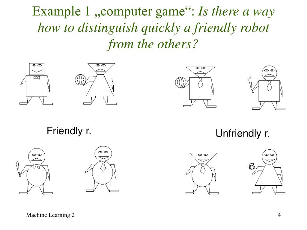 """Example 1 """"computer game"""":"""