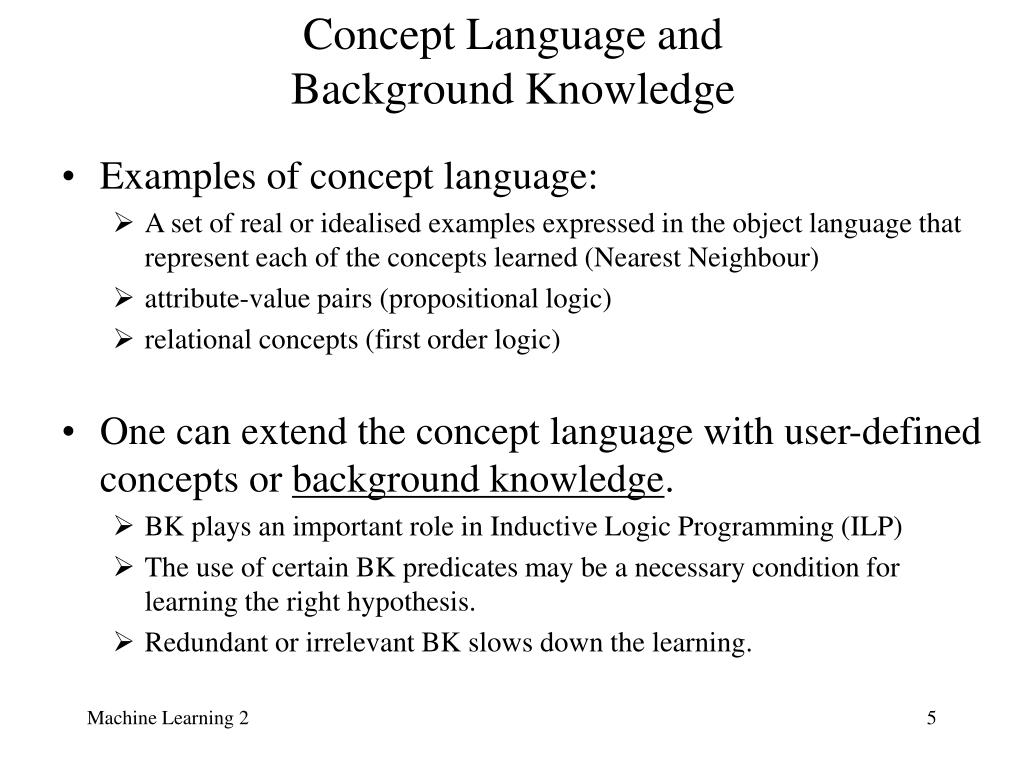 Concept Language and