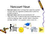 noncount noun