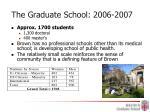 the graduate school 2006 2007