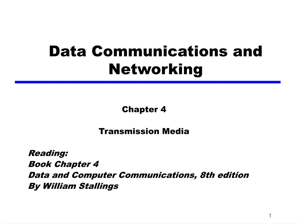 data communications and networking l.