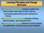 learning principles and change kurt lewin