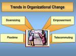 trends in organizational change