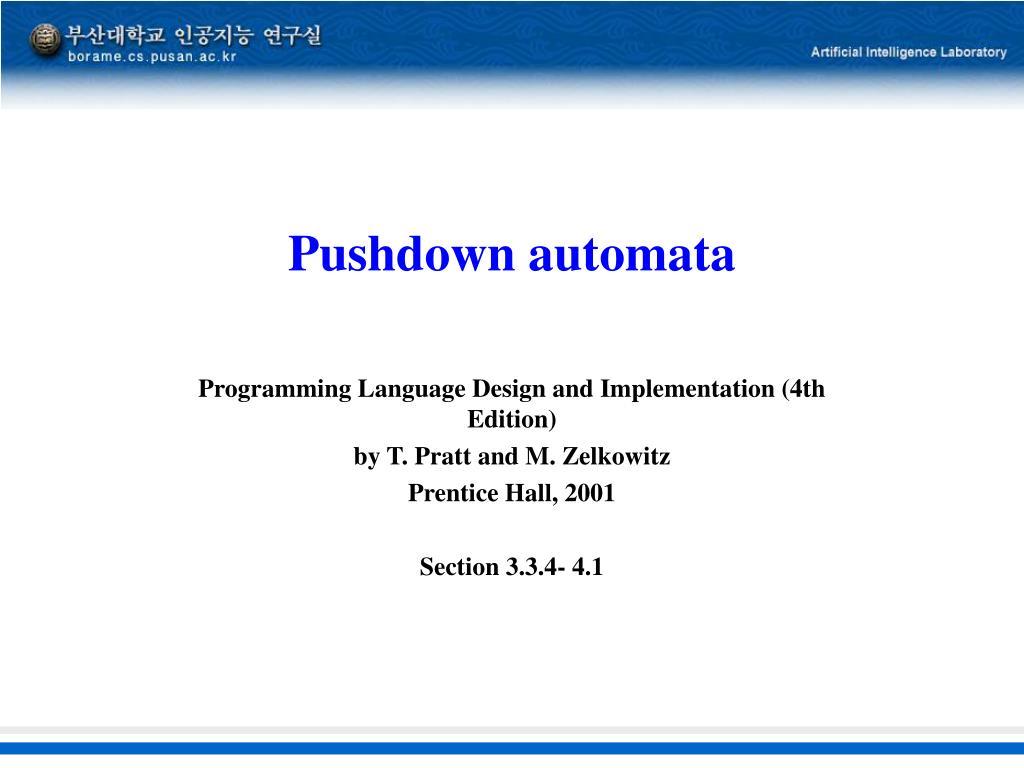 pushdown automata l.