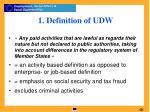 1 definition of udw