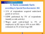 4 socio economic facts according to special eurobarometer 284