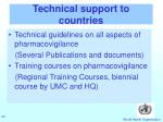technical support to countries